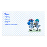 Benny and Binny Blue Jay Double-Sided Standard Business Cards (Pack Of 100)