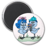 Benny and Binny Blue Jay Fridge Magnets