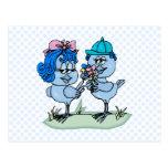 Benny and Binny Blue Jay Postcard