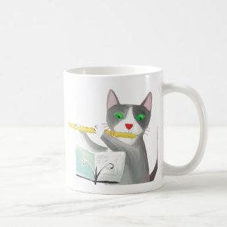 Benny el gato del jugador de flauta taza clásica