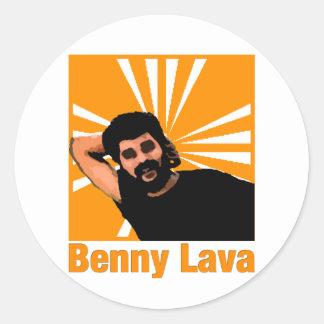 Benny Lava Classic Round Sticker