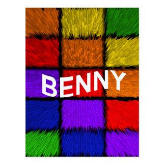 BENNY ( male names ) Postcard