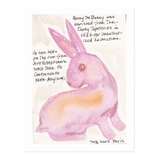 Benny the Bunny From Cluny Postcard