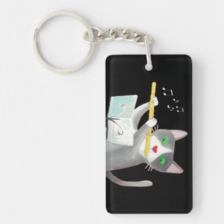 Benny the flute player cat acrylic key chains