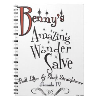 Benny's Amazing ! 100% pureSnake Oil Spiral Notebook