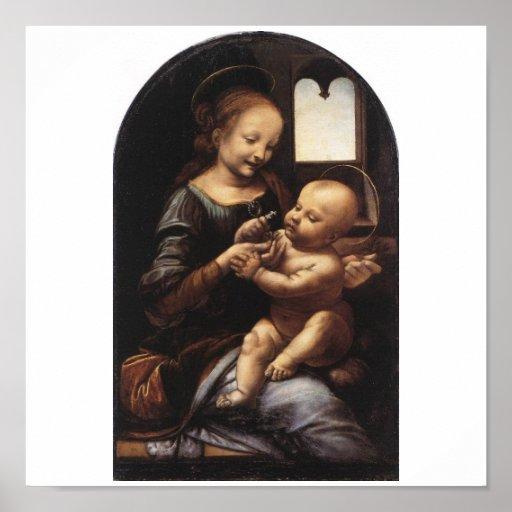 Benois Madonna by Leonardo Da Vinci circa 1478 Print