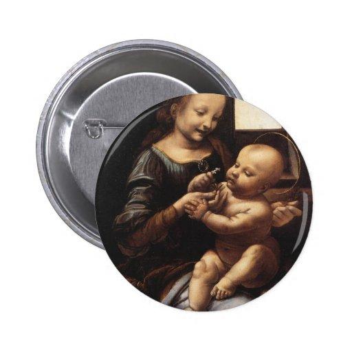 Benois Madonna Pin Redondo De 2 Pulgadas