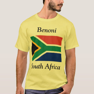 Benoni, South Africa with South African Flag T-Shirt