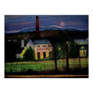 Benromach Distillery. Poster