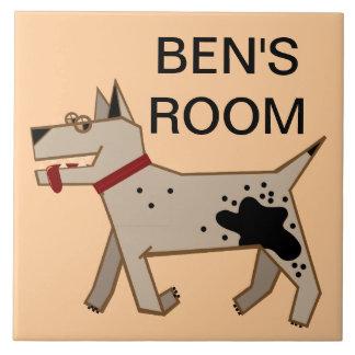 Ben's Room Large Square Tile