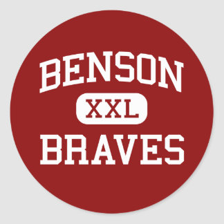 Benson - Braves - Senior - Benson Minnesota Classic Round Sticker