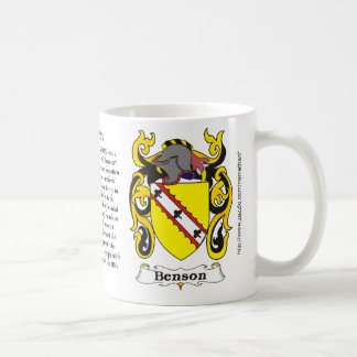 Benson Coat of Arm mug