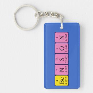 Benson periodic table name keyring keychain