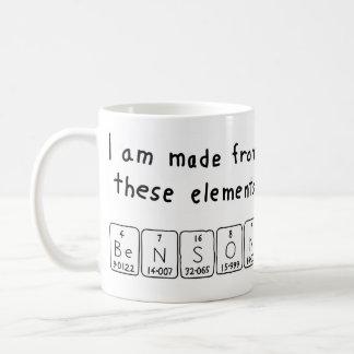 Benson periodic table name mug