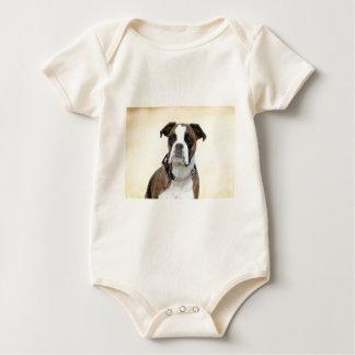 Benson the Boxer dog Baby Bodysuit