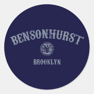 Bensonhurst Pegatina Redonda
