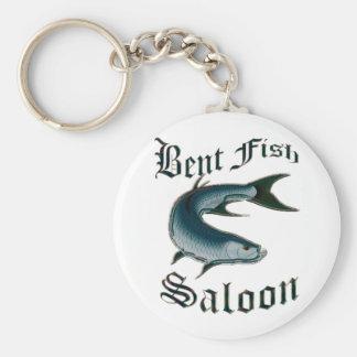Bent Fish Saloon by FishTs.com Keychain