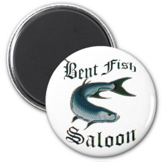 Bent Fish Saloon by FishTs.com Refrigerator Magnet