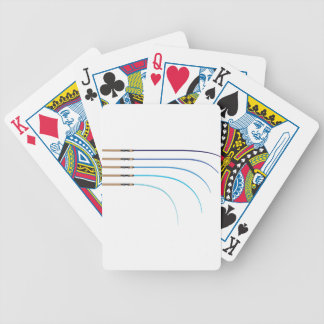 Bent Fishing rod vector curved rod blanks Bicycle Playing Cards