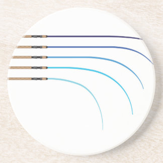Bent Fishing rod vector curved rod blanks Drink Coaster