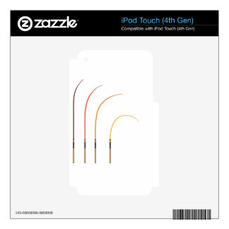 Bent fishing rod vector illustration clip-art tech iPod touch 4G skin