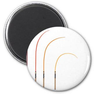 Bent fishing rod vector illustration clip-art tech magnet