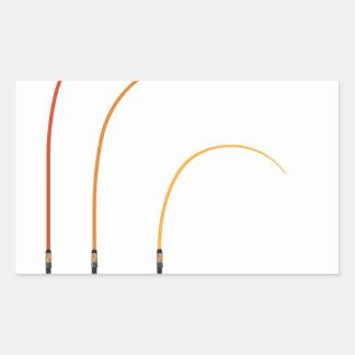 Bent fishing rod vector illustration clip-art tech rectangular sticker