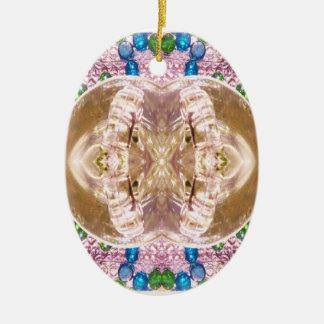 Bent Glass Matching Wedding Rings Ceramic Ornament