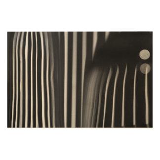 Bent Light through Green Glass on Wood Wood Print