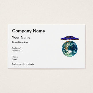 Bent On World Domination Planet Earth Humor Business Card