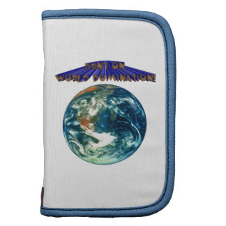 Bent On World Domination Planet Earth Humor Folio Planners