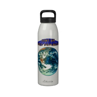 Bent On World Domination Planet Earth Humor Reusable Water Bottle
