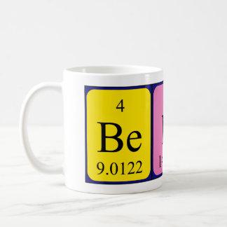 Bent periodic table name mug