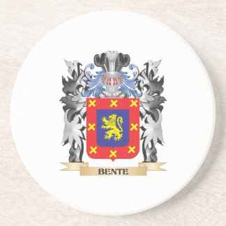 Bente Coat of Arms - Family Crest Drink Coaster