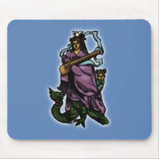 Benten and Attendant Riding a Dragon Mouse Pad
