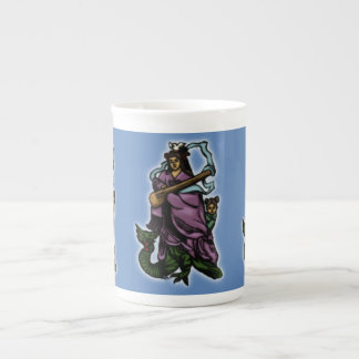 Benten and Attendant Riding a Dragon Tea Cup