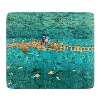 Benten Pond at Shiba Kawase Hasui japanese scenery Cutting Board