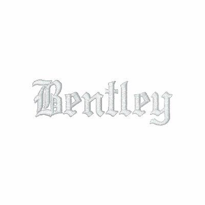 Bentley bordó la camisa polos bordados mangas largas