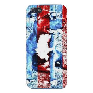 Bentley el caso de Iphone 5 del pitbull patriótico iPhone 5 Fundas