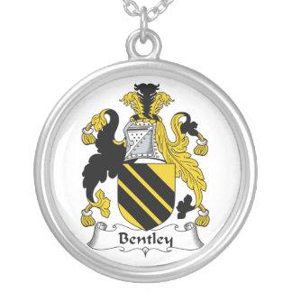 Bentley Family Crest Round Pendant Necklace