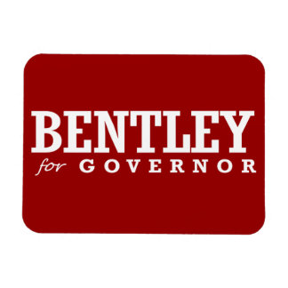 BENTLEY FOR GOVERNOR 2014 RECTANGLE MAGNETS