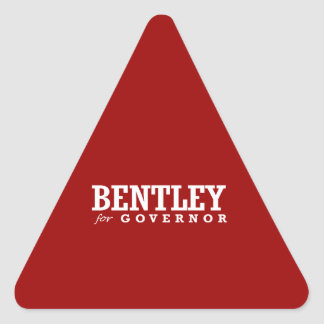 BENTLEY FOR GOVERNOR 2014 TRIANGLE STICKERS