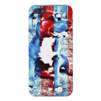 Bentley the Pit Bull Iphone 5 Case Patriotic
