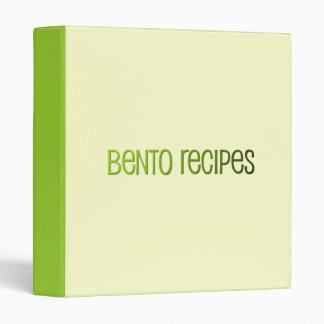 Bento Recipe Binder