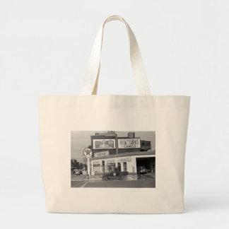 Benton Harbor Filling Station, 1940s Canvas Bags