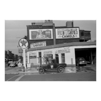 Benton Harbor Filling Station, 1940s Poster