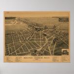 Benton Harbor Michigan 1889 Antique Panoramic Map Posters