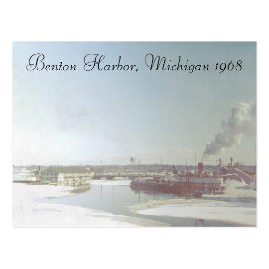 Benton Harbor Michigan and River Postcard