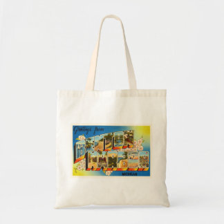 Benton Harbor Michigan MI Vintage Travel Souvenir Tote Bag
