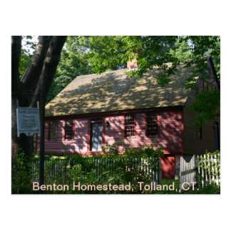 Benton Homestead, Tolland, CT. Postcard